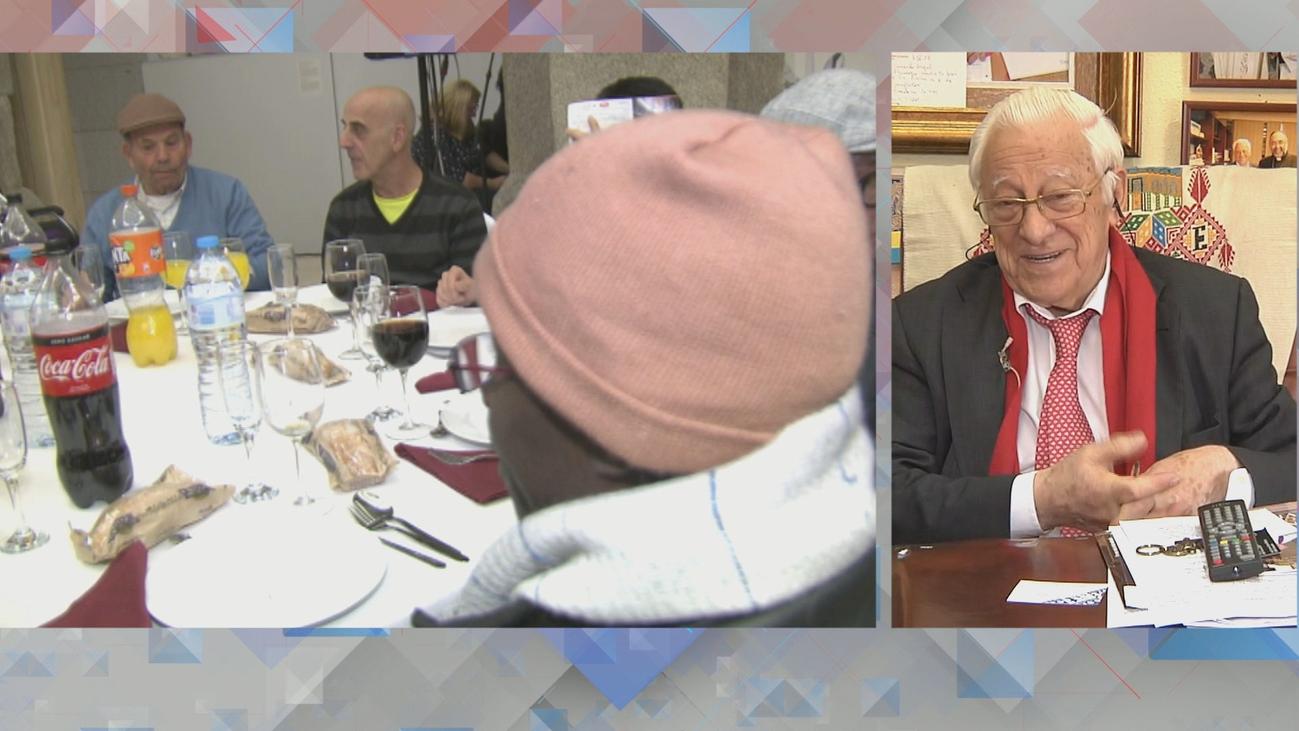 El padre Ángel detalla cómo fue la cena solidaria de Nochebuena en el Museo del Prado