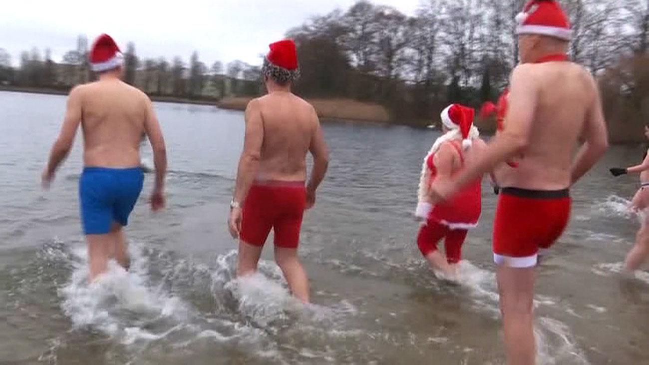 Baño navideño en Alemania