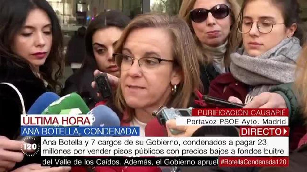 El PSOE aplaude la condena a Ana Botella y pide que se abra la causa penal