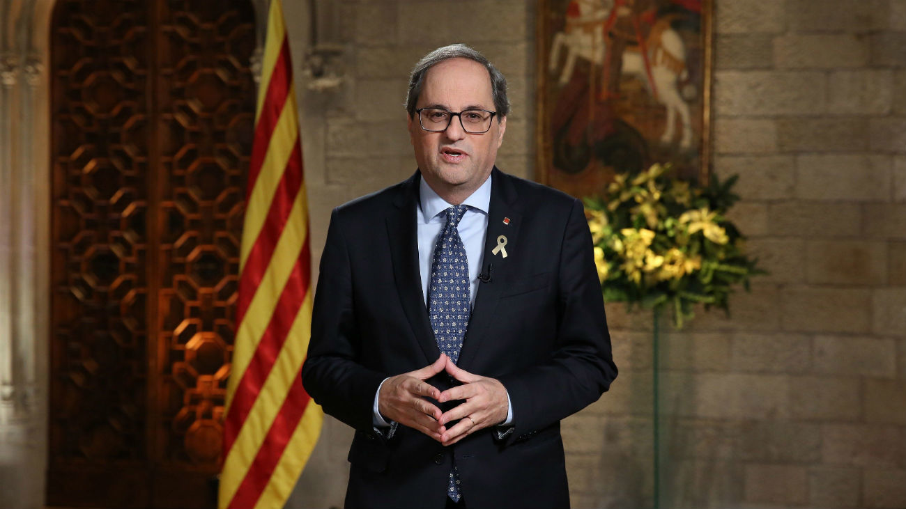 """Torra llama a los catalanes a """"rebelerarse ante la injusticia"""""""