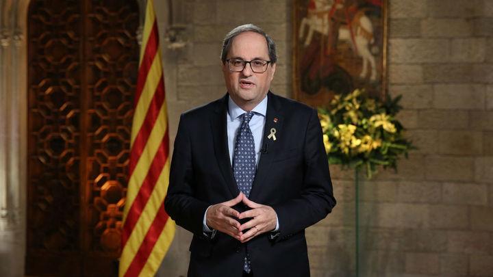 """Torra llama a los catalanes a """"rebelarse ante la injusticia"""""""
