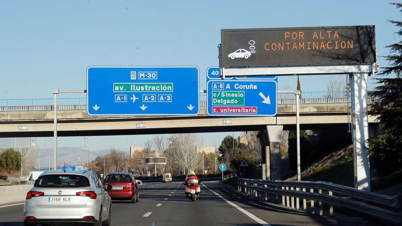 Madrid mantiene para este  jueves las restricciones por contaminación