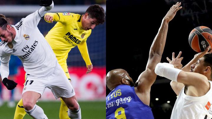 El Real Madrid empata en Villarreal (2-2) y el de basket gana al Maccabi (91-79)