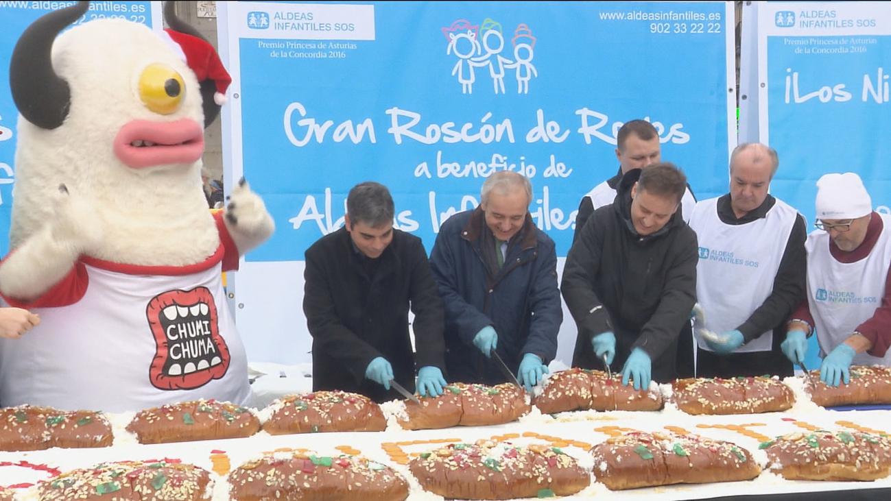 Aldeas Infantiles repartirá este sábado en Sol su roscón de Reyes gigante