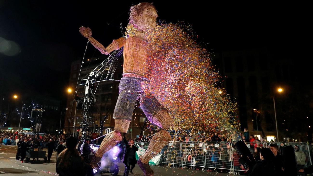 El muñeco 'Mo', el niño gigante de la Cabalgata de Madrid