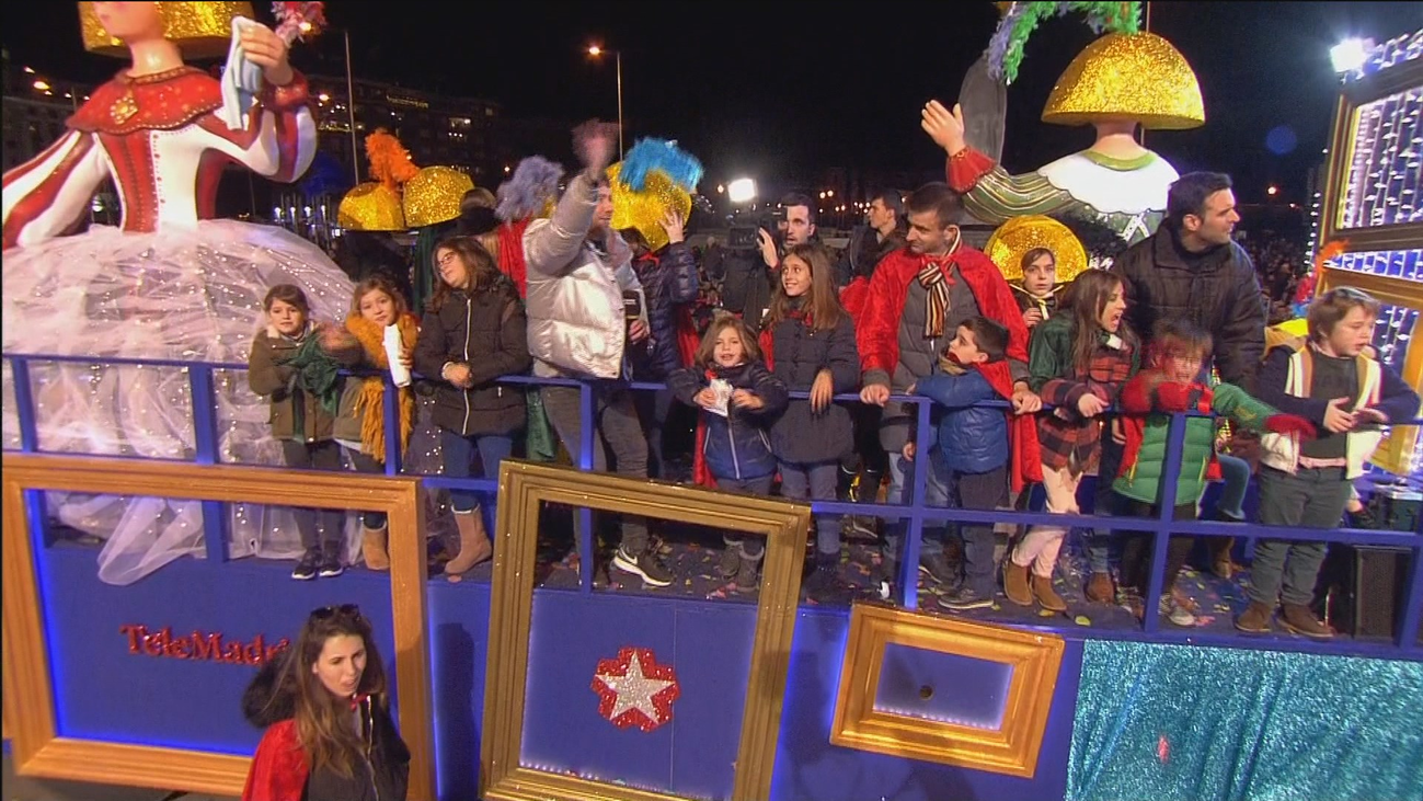 La carroza de Telemadrid, dedicada a 'Las meninas' esta Cabalgata de Reyes