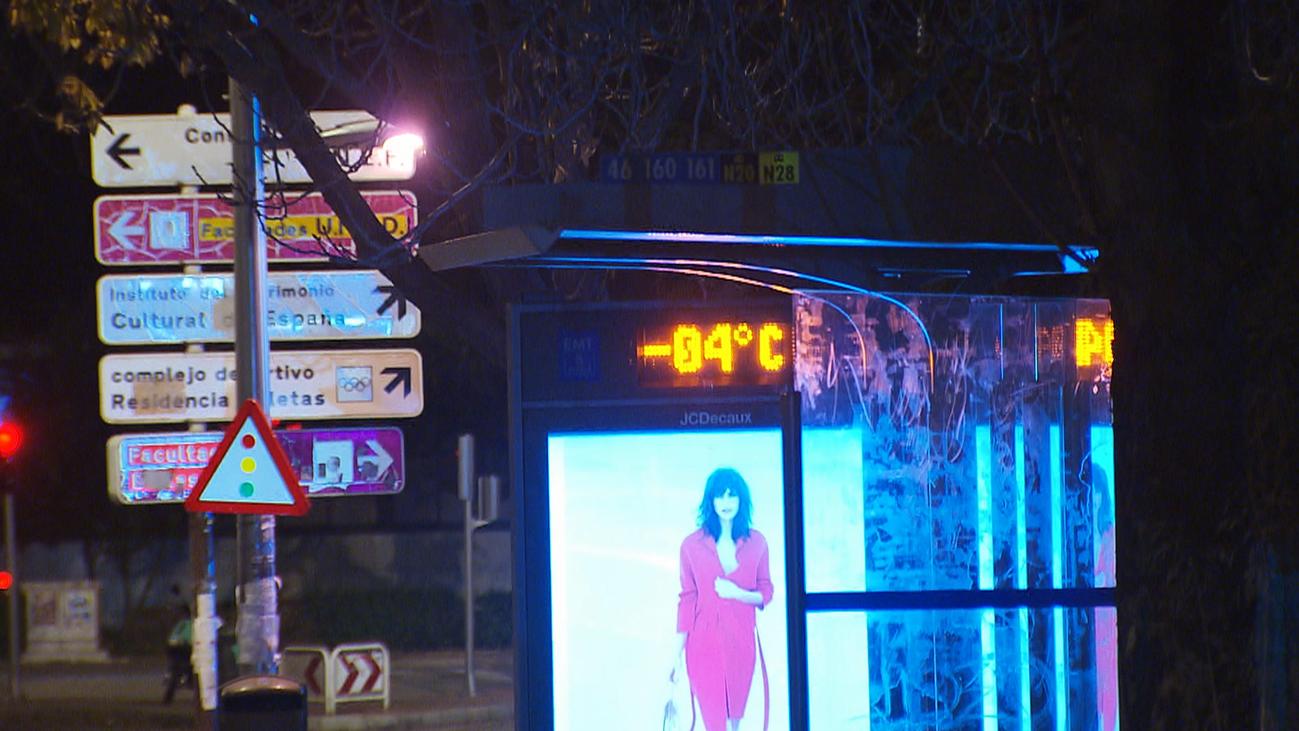Alerta amarilla por bajas temperaturas  con mínimas de hasta -4ºC