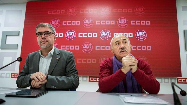 UGT y CCOO se manifiestan el 8 de febrero para que Sánchez cambie la reforma laboral