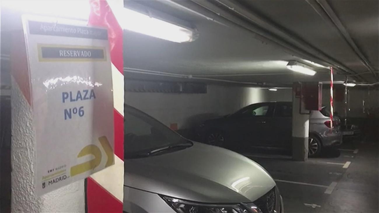 Okupas de plazas de garaje en el aparcamiento de la Plaza Mayor