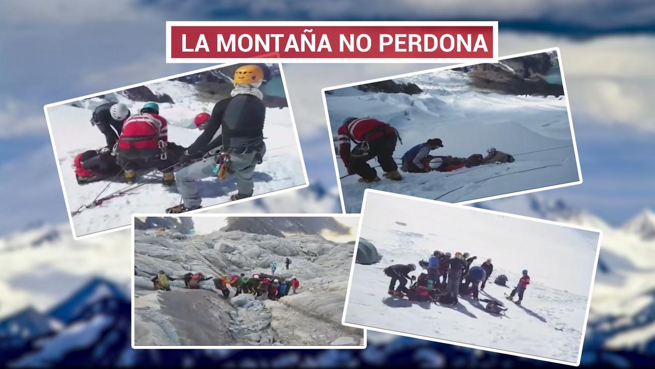 Rescatan los cuerpos de los cuatro alpinistas muertos en Perú