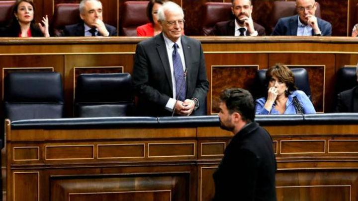 """Rufián: """"Podemos nos ofreció la cabeza de Borrell a cambio de nuestro apoyo a los Presupuestos"""""""