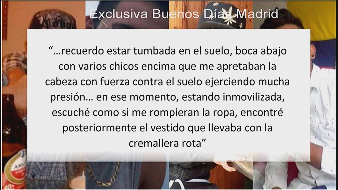 La víctima de 'la manada de Alicante' relata cómo la agredieron