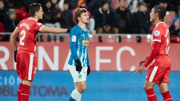 1-1. El Atlético empata en Girona y el Wanda decidirá