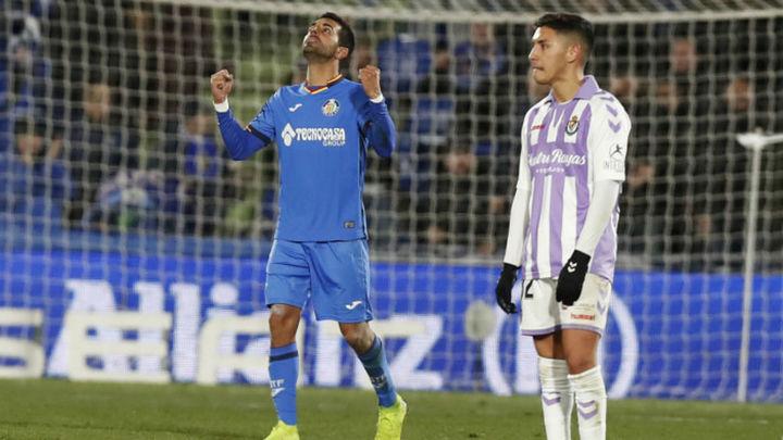 Gol de Ángel al Valladolid (1-0)