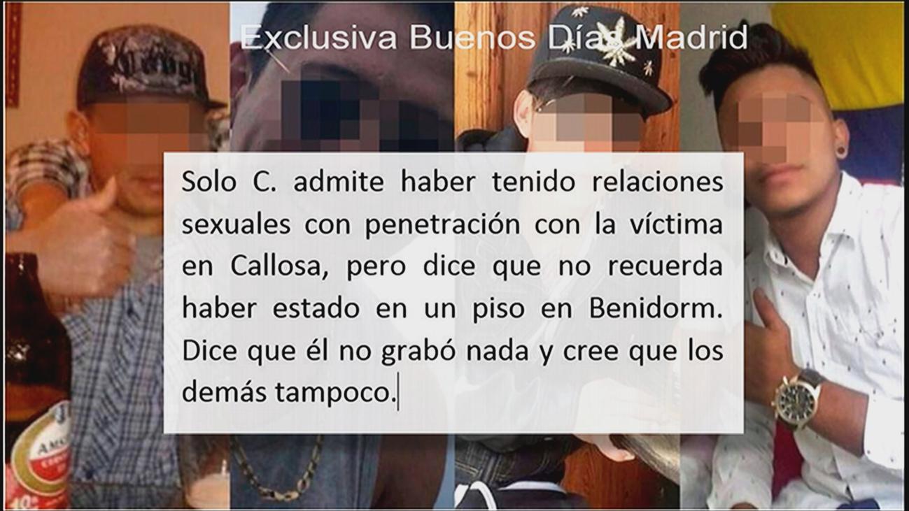 Esta fue la declaración de los acusados que forman 'la manada de Alicante'