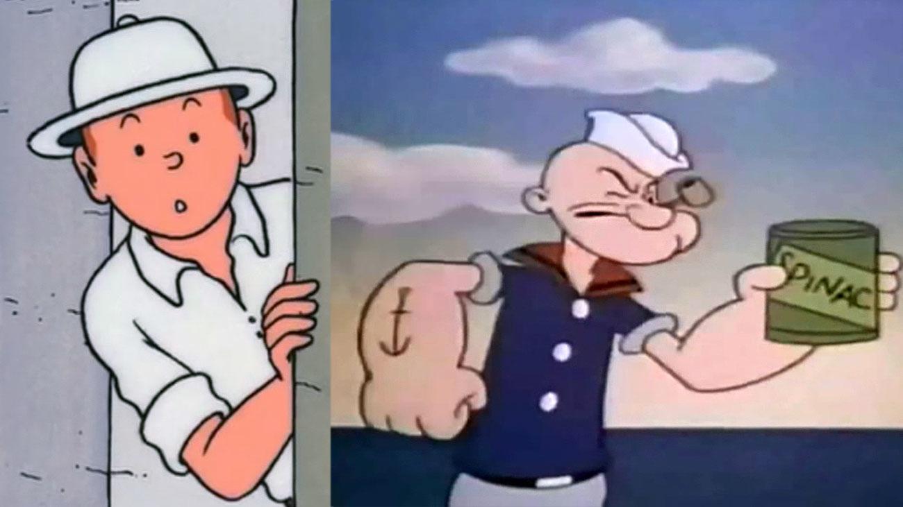 Tintín y Popeye cumplen 90 años