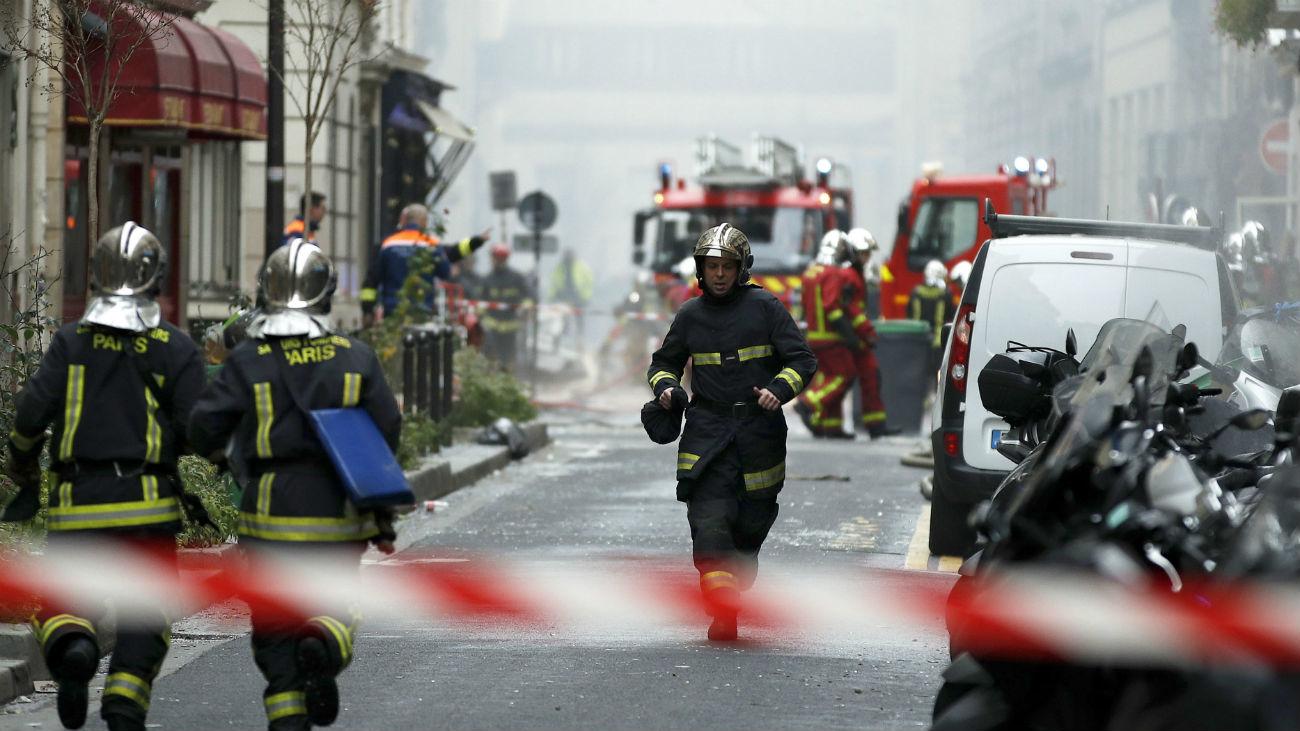 Muere una española en una explosión en el centro de París