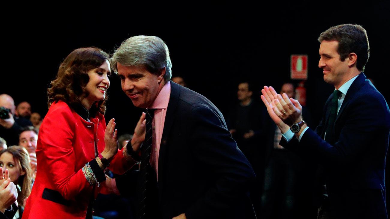 Garrido emocionado tras ser ovacionado por el PP madrileño