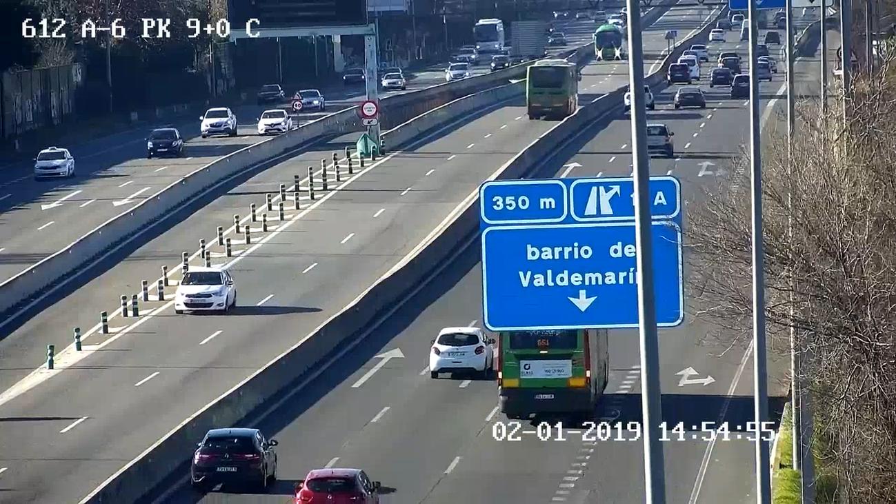 Un conductor de autobús recorre 11 kilómetros en sentido contrario en el bus-vao de Madrid-Pozuelo