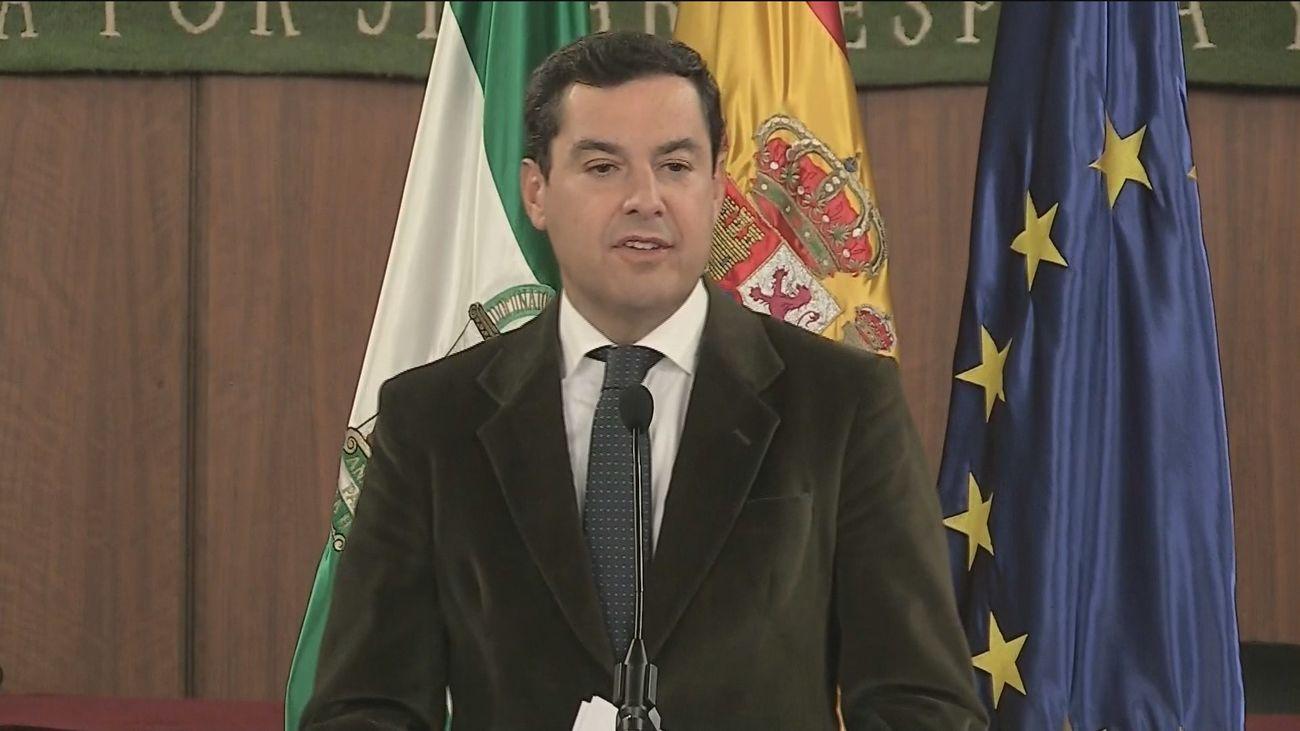 Moreno investido como  presidente de la Junta de Andalucía en primera votación