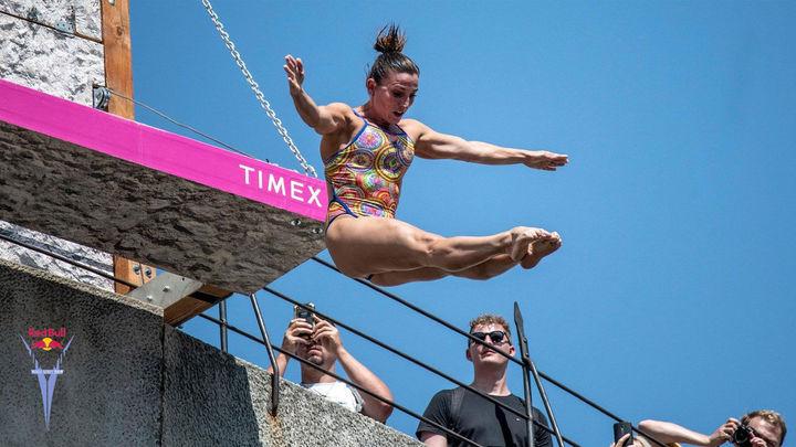 """Celia Fernández, saltadora de High Diving: """"Es una explosión máxima de adrenalina"""""""