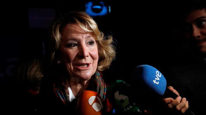 """Esperanza Aguirre: """"Isabel Díaz Ayuso lo va a hacer muy bien"""""""