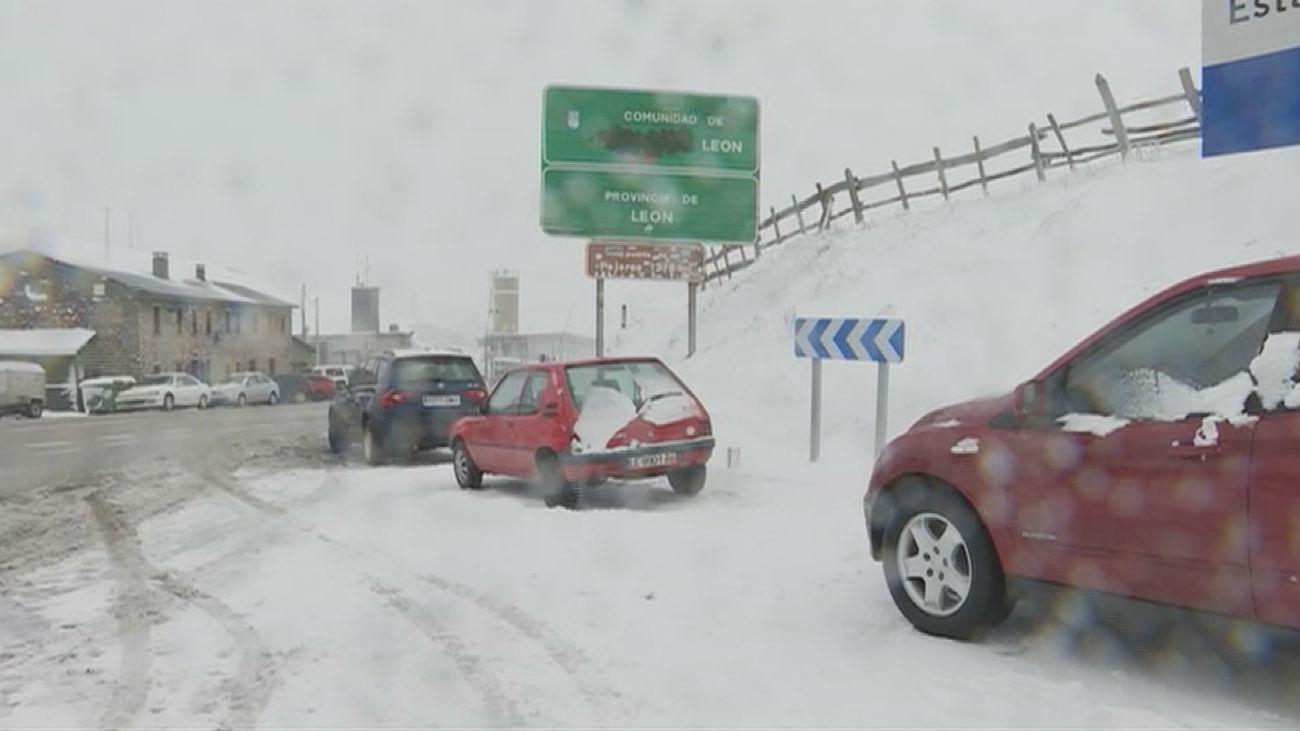 Las primeras nevadas del invierno llegan al norte de la península
