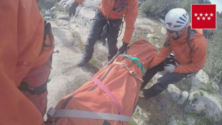Herido grave un escalador tras caer desde 5 metros en La Pedriza