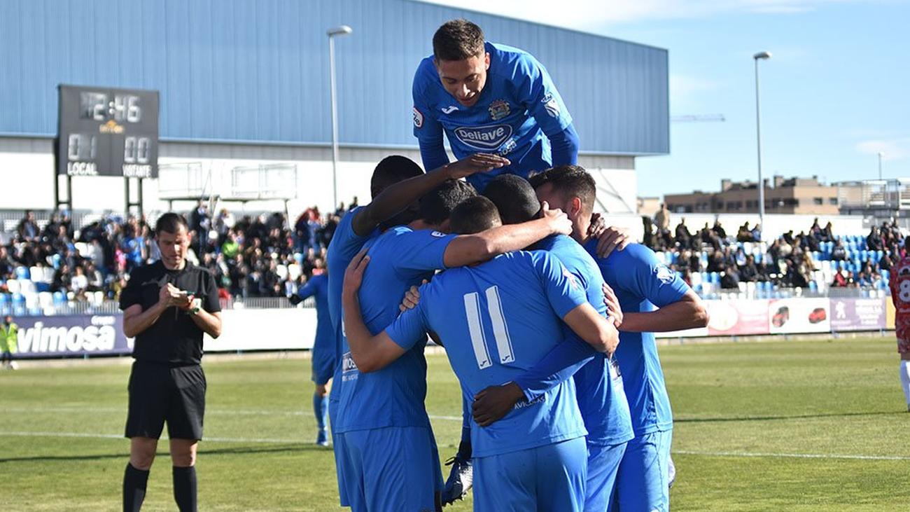 Gol de Marrero, del 'Fuenla', al Guijuelo (3-0)