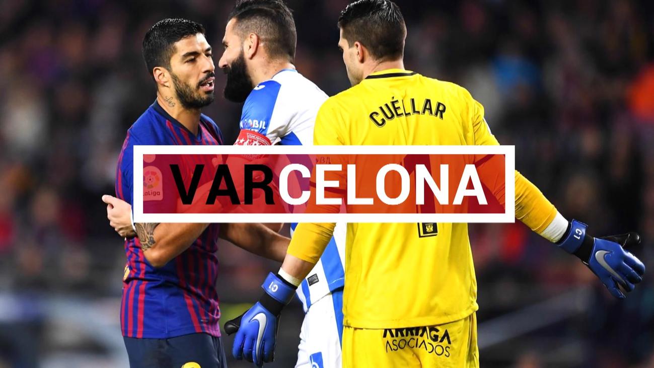 El VAR vuelve a beneficiar al Barça ante el Leganés