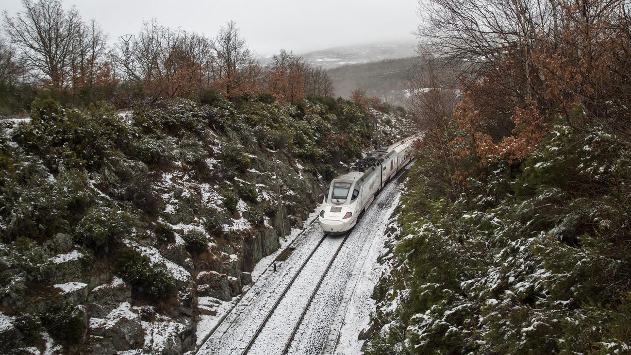 Primer temporal de nieve, lluvia y viento del invierno