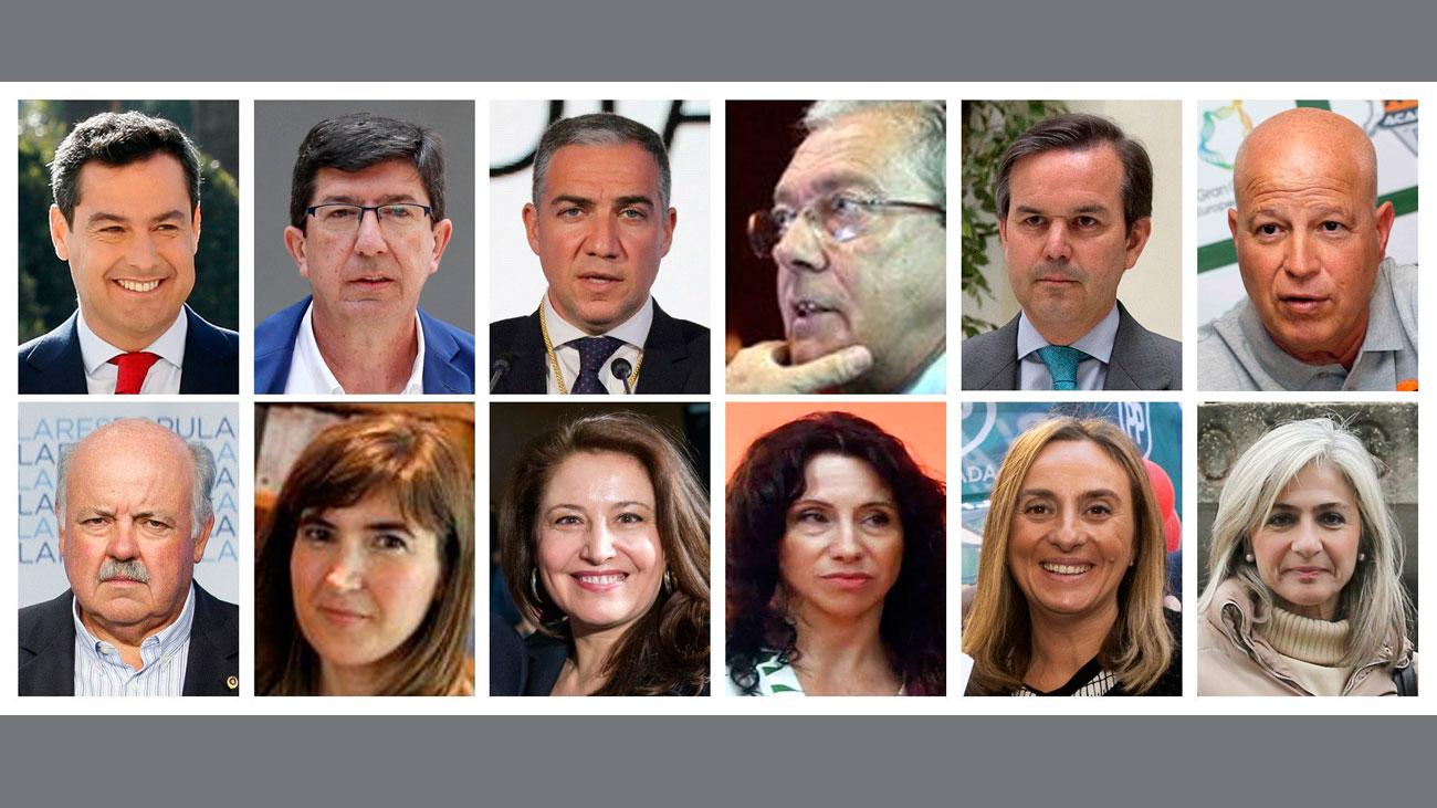 Cinco mujeres y seis hombres en el nuevo gobierno de Andalucía