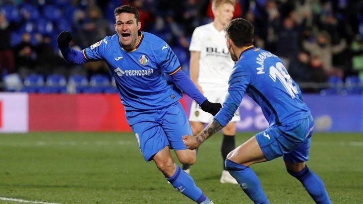 Gol de Jorge Molina al Valencia (1-0)