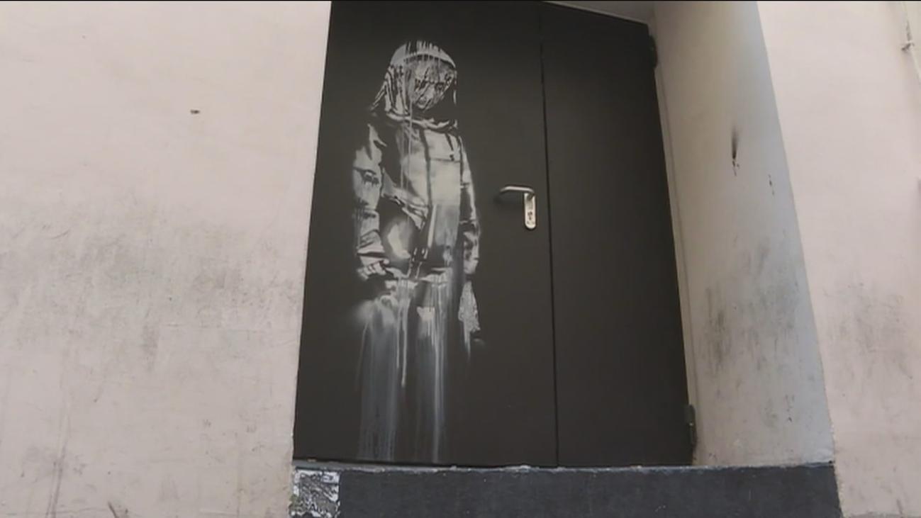 Roban una obra de Banksy de la sala Bataclan
