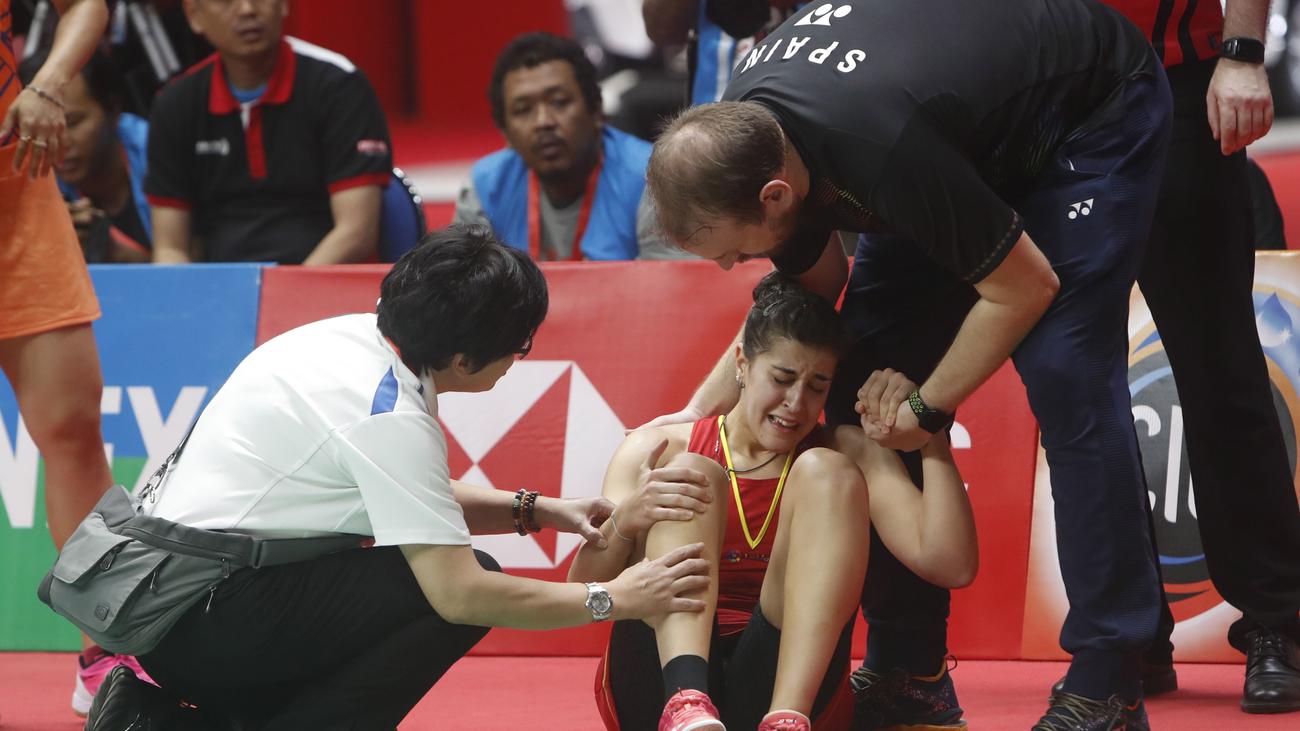 Carolina Marín se rompe el ligamento cruzado