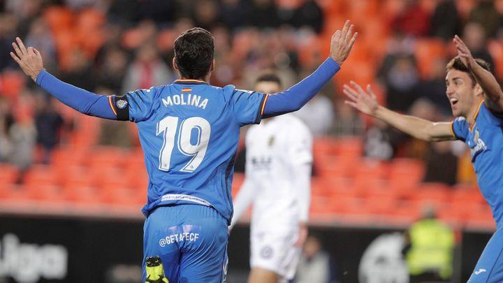 Gol de Jorge Molina al Valencia (0-1)