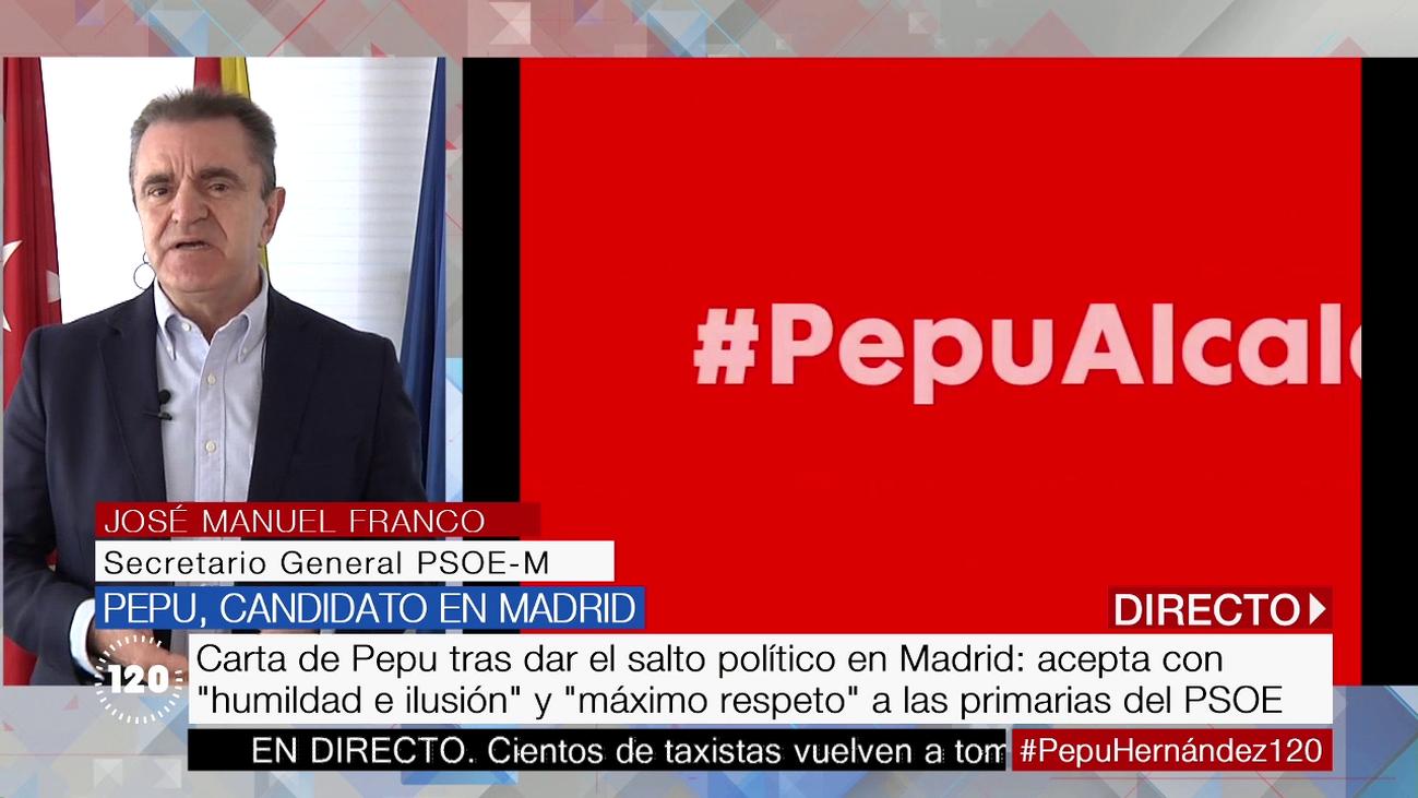 """""""Si los militantes consideran que Pepu Hernández es el candidato, nosotros encantados"""""""