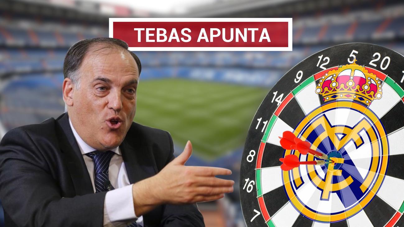 A Tebas no le gustan las críticas del Real Madrid al VAR