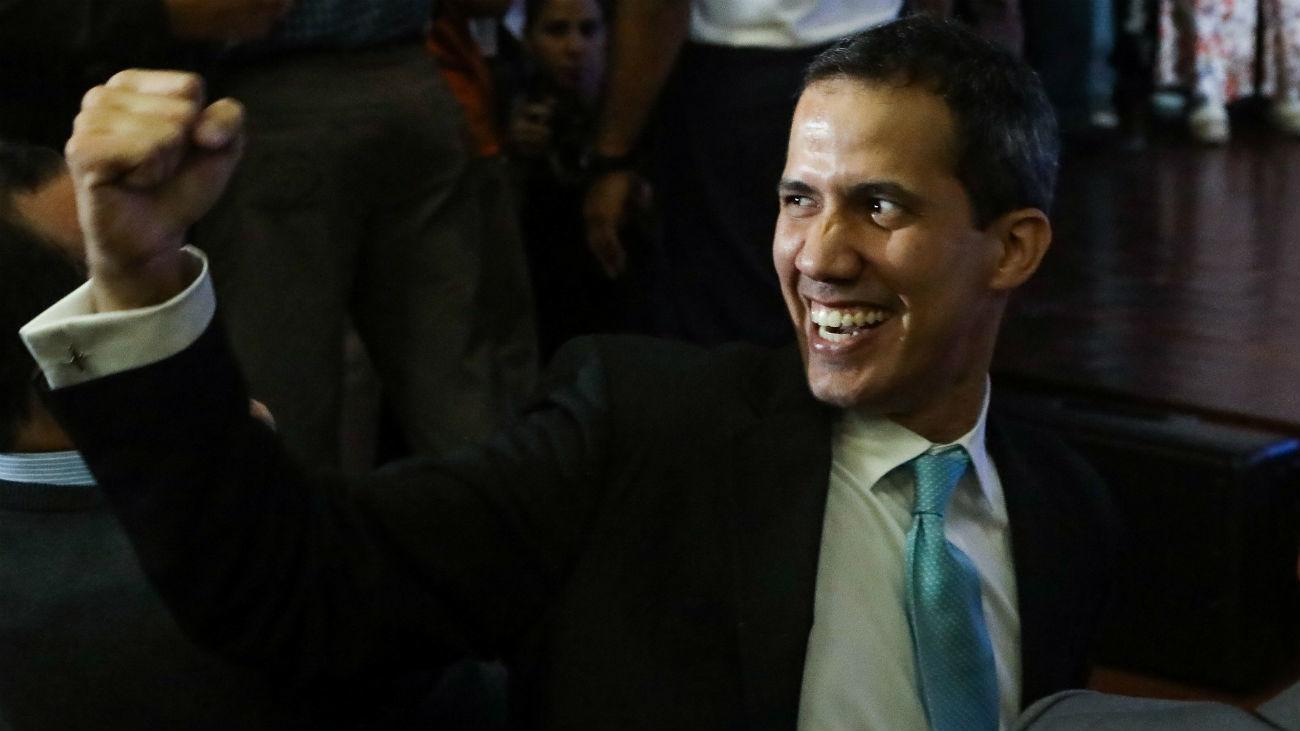 El jefe del Parlamento, Juan Guaidó