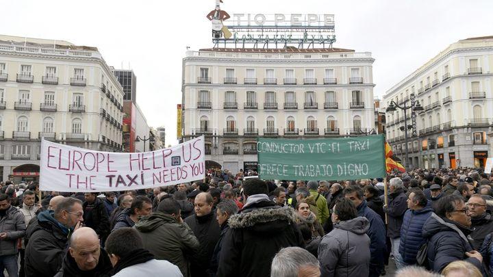 En directo: segundo fin de semana con la huelga de taxistas en Madrid