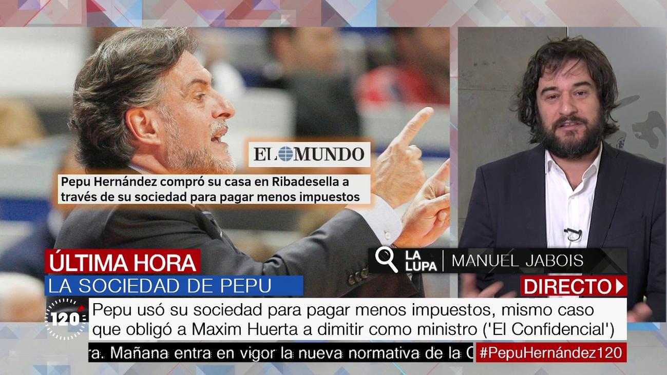 """Jabois, sobre la sociedad de Pepu Hernández: """"A la política le corresponde si es ético o no"""""""