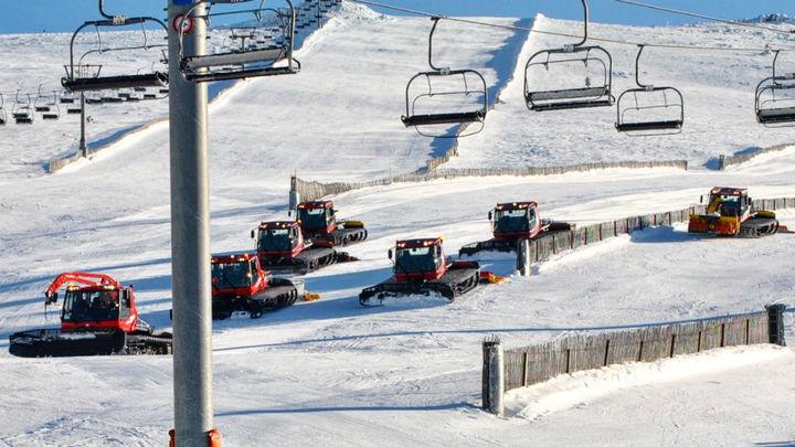 El mal tiempo impide la apertura de la estación de esquí de Navacerrada