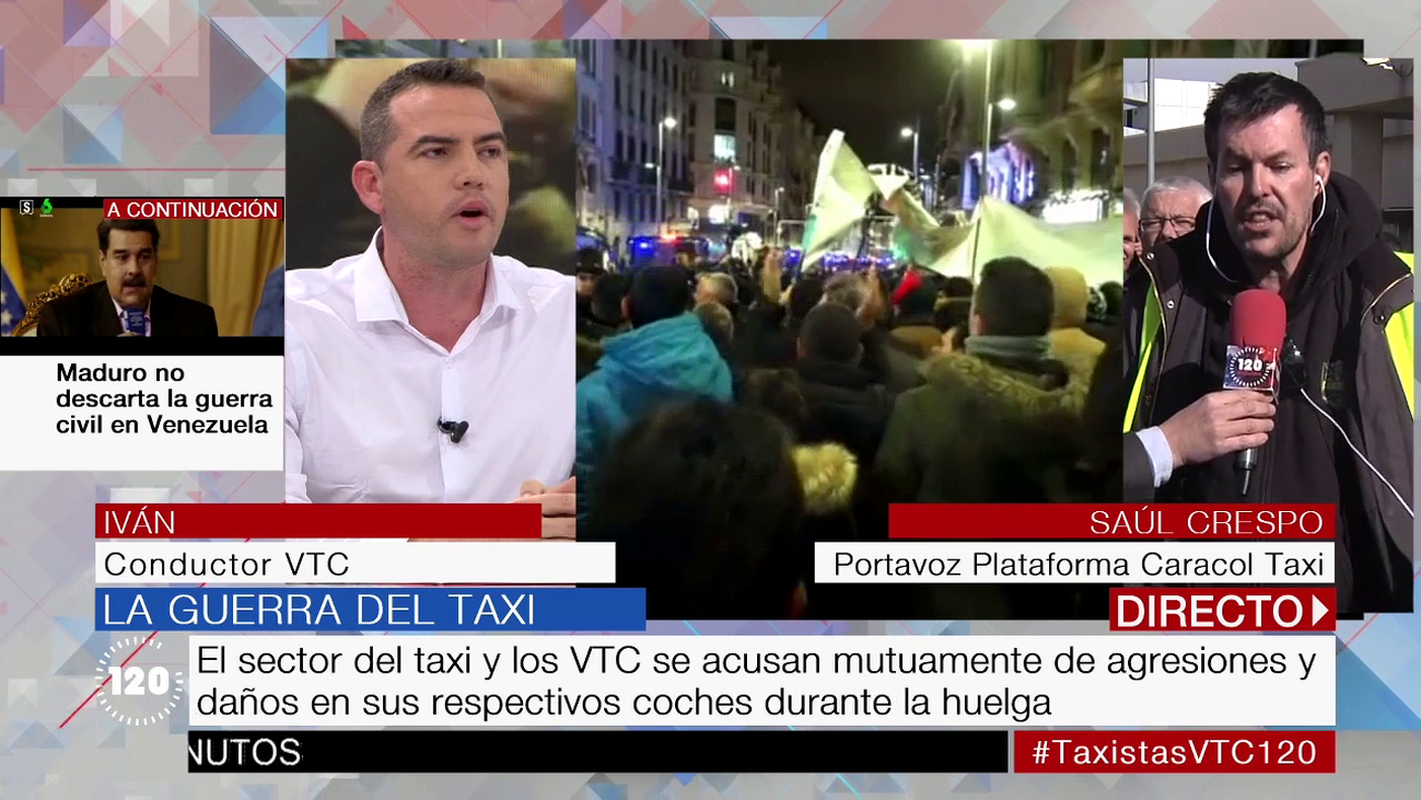 Crece la tensión entre taxistas y VTC tras quince días de huelga en Madrid