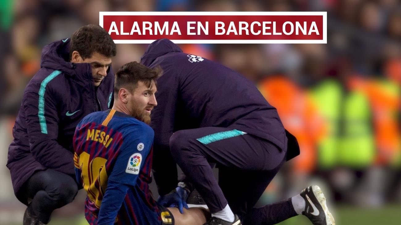 Pánico en el Nou Camp por la lesión de Messi