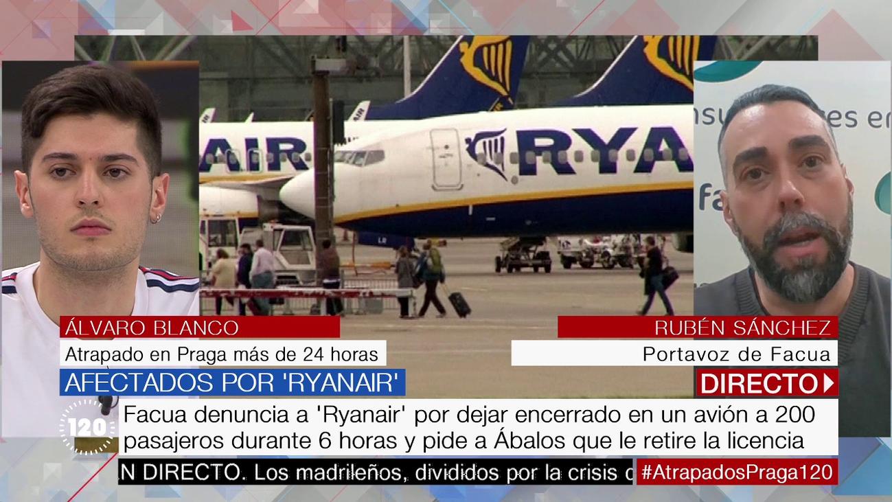 """Un pasajero atrapado en Praga: """"Había personas con ataques de ansiedad"""""""