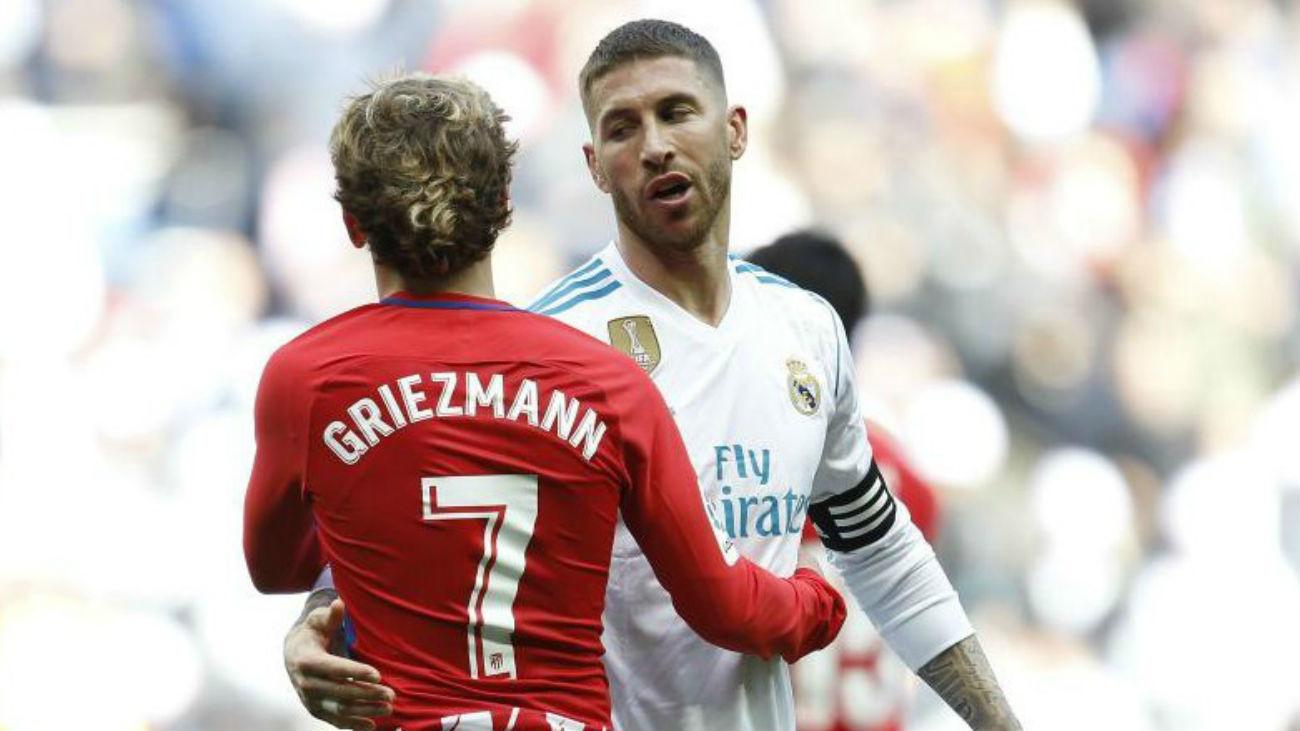 Sergio Ramos y Griezmann