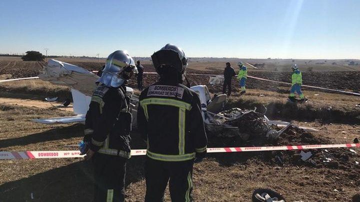 Dos muertos al caer una avioneta en Quijorna
