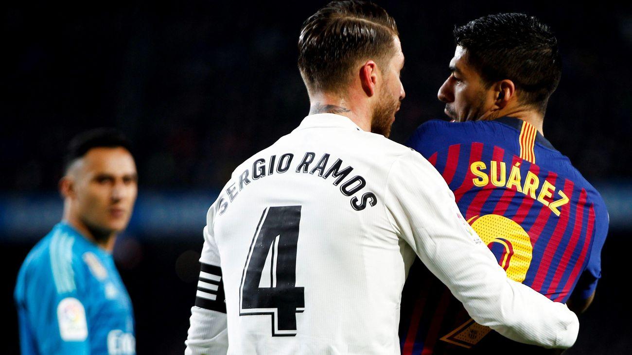 Sergio Ramos y Luiz Suárez