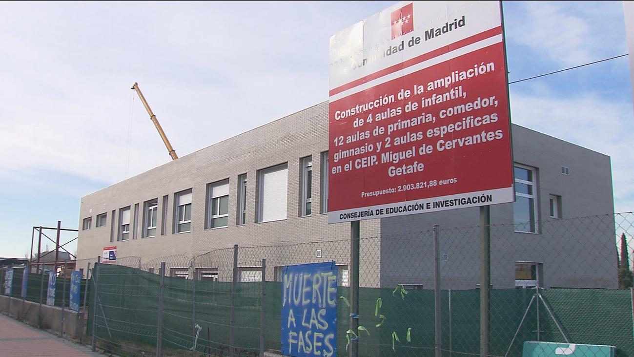 El colegio Miguel de Cervantes de Getafe lleva más de 4 años en obras