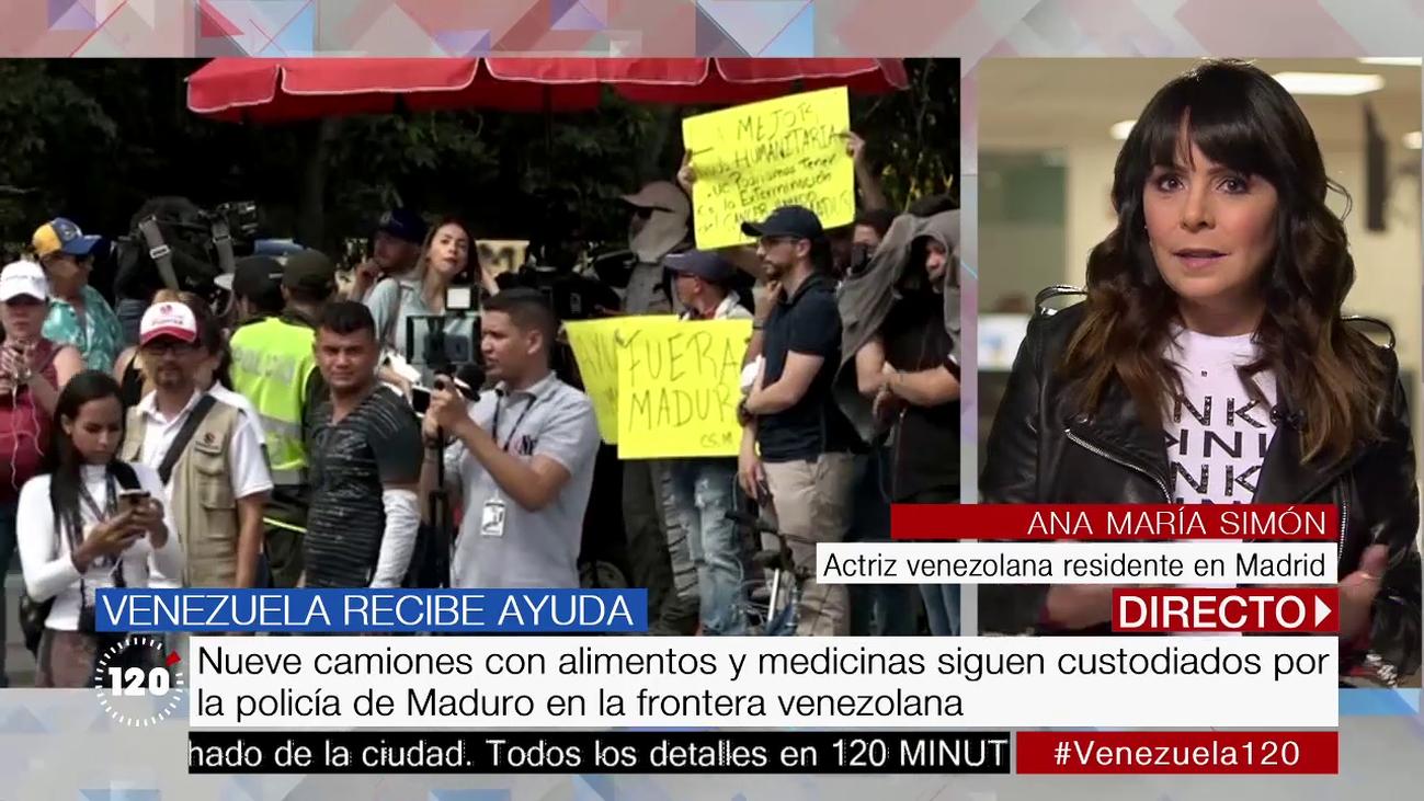 """Ana Mª Simón, actriz venezolana: """"La realidad en Venezuela es mucho peor de lo que se cuenta"""""""